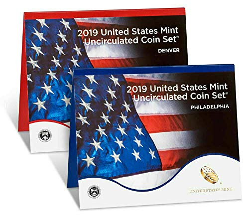2019 P D United States Mint Uncirculated Coin Set (20 coins) - SEALED US MINT BOX 19RJ WITH COA - Uncirculated