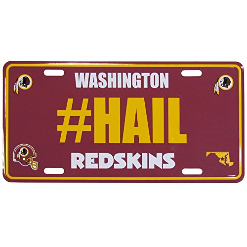 Siskiyou NFL Washington Redskins Hashtag License Plate