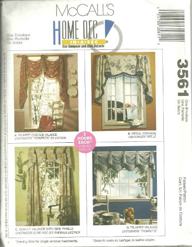 Valances & Regal Cornice McCall's Home Dec In-a-Sec, used for sale  Delivered anywhere in USA