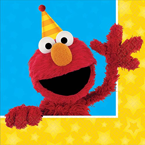 Sesame Street Party Supplies 32 Pack Lunch Napkins