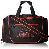 adidas Defender III Duffel Bag, Black/Active Red, Small