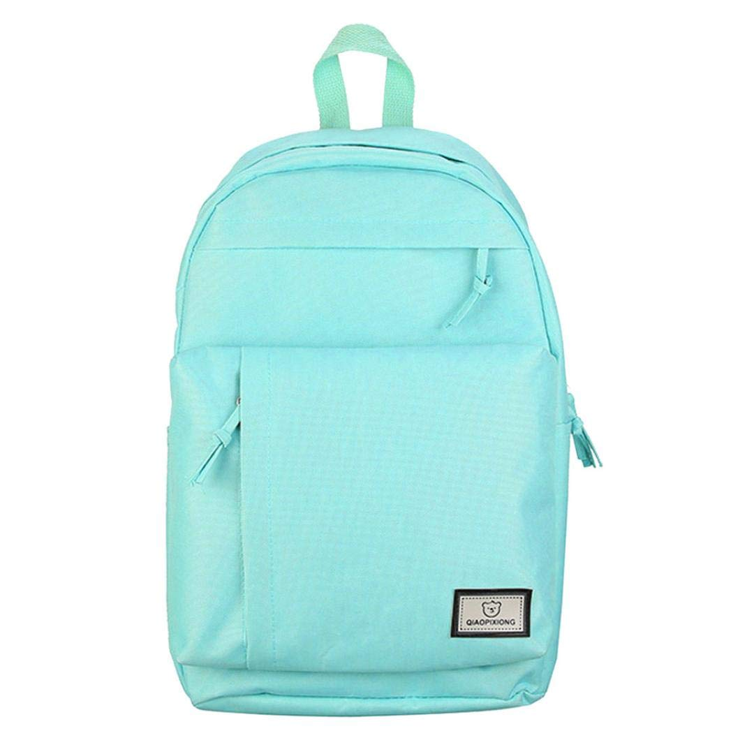 SUKEQ Fashion Laptop Backpack School Backpack Lightweight Canvas Bookbags College Bags Daypack High School Rucksack for Boys Girls (Green)