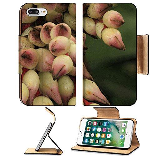 Luxlady Premium Apple iPhone 7 Plus Flip Pu Leather Wallet Case iPhone7 Plus 22089904 Flowers