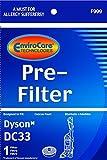 Dyson DC33 lavable y reutilizable pre-filtro diseñado para adaptarse a Dyson DC33 Multi Floor Aspiradora; Comparar Para Dyson Parte # 919563-01, 91956301