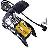 Krevia Bike Foot Pump with Accurate Gauge &Smart Valve Head, 160PSI Aluminum Body High Pressure Foot Air Floor Pump