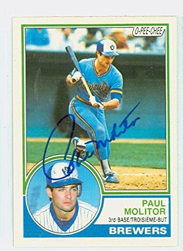 Autograph Paul Molitor (Paul Molitor AUTOGRAPH 1983 O-PEE-CHEE Milwaukee Brewers)