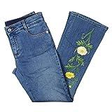 Stella McCartney Womens Embroidered Rhinestone Skinny Jeans