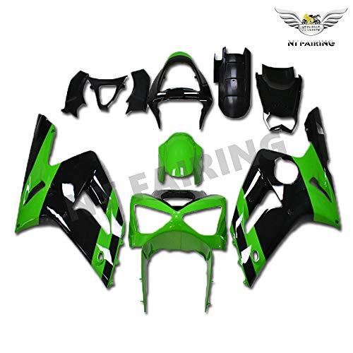 New Green Black Fairing Fit for Kawasaki Ninja 2003 2004 ZX6R 636 ZX-6R Injection Mold ABS Plastics Aftermarket Bodywork Bodyframe 03 04