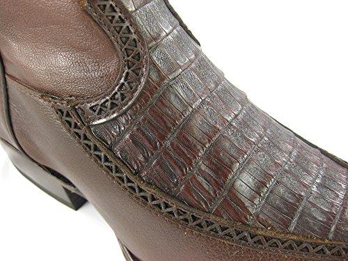 Uomini Stivali Da Cowboy Occidentale Stivali Pelle Di Coccodrillo Cuadra (a Mano) 1b38fy Foresta Ocre