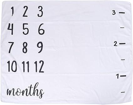 Toyvian Couverture mensuelle pour b/éb/é Milestone Blanket Newborn Photography