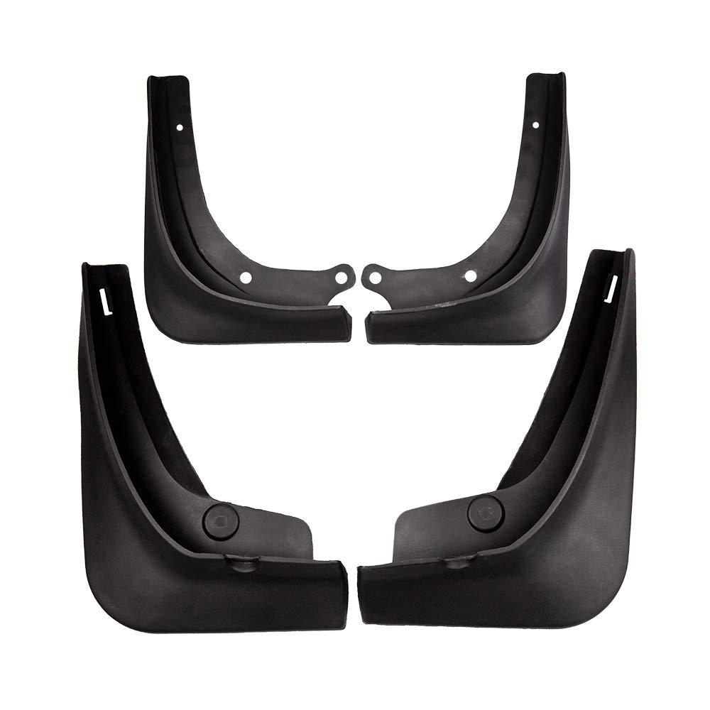 Black ETIAL 4PCS Car Mud Flaps Splash Guard Fender Plastic Front Rear Wheel Mudguard for Tesla Model 3 with Fixing Screws
