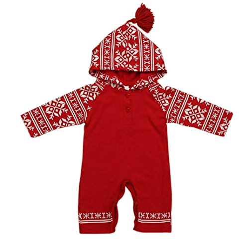 KEERADS Baby Clothes, 1PC Christmas Baby Hooded Printed Romper Jumpsuit...