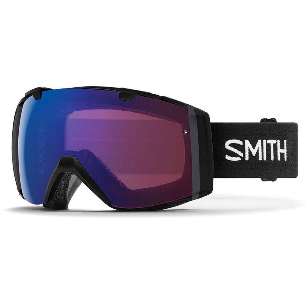 Smith Optics Adult I/O Snowmobile Goggles Black / ChromaPop Sun Red Mirror