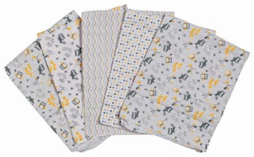 Little Beginnings 5 Piece Receiving Blankets, Woodland Print