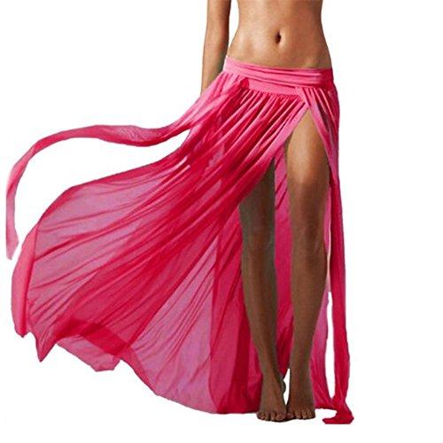 manches Femme Robe Jupe plage plage sans Rose Hosaire longue pour xPqfnIw