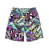 Sunworld Men's Walk Beach Pants Size Print Shorts