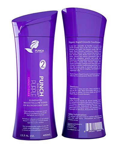 Purple Conditioner for Blonde Hair Color - Neutralizes Unwanted Tones like Brass and Yellow - Perfect for Blonde, Gray, Silver, White, Light Brown, Colour Treated Hairs - Violet Conditioner 13.5 - For Tone Yellow Skin Colours