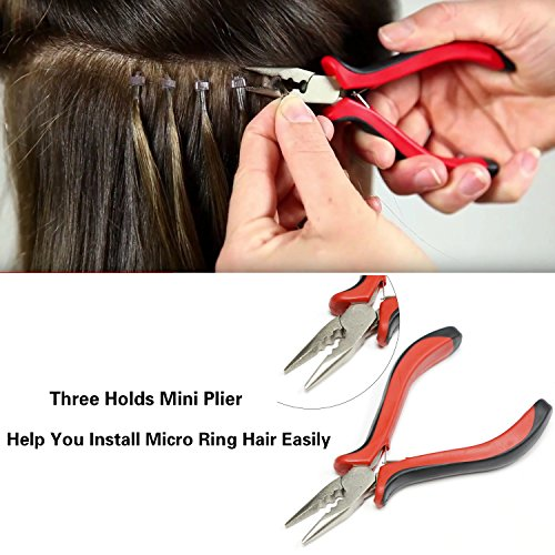 Amesun Hair Extension's Plier Professional Linkies Micro Ring Beads Tool Kits for Hair Extension Removal (Mini Plier)