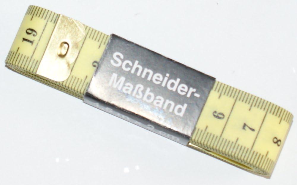 Schneidermaßband Schneiderband Maßband 150 cm in gelb