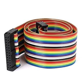 Cable de Cinta Plana eDealMax conector IDC del arco iris, M/F, 26 Pines, 26 Way, 1.4: Amazon.com: Industrial & Scientific