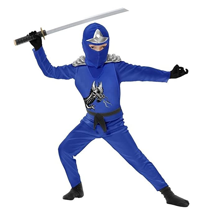 Amazon.com: Charades Little Boys Blue Ninja Costume Toddler ...