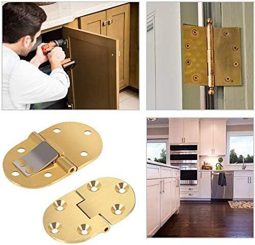 2 unidades Bisagra de lat/ón macizo para bandeja de mantequilla 2-1//2 x 1-1//2 pulgadas con tornillos de acabado satinado para mesas plegables color dorado