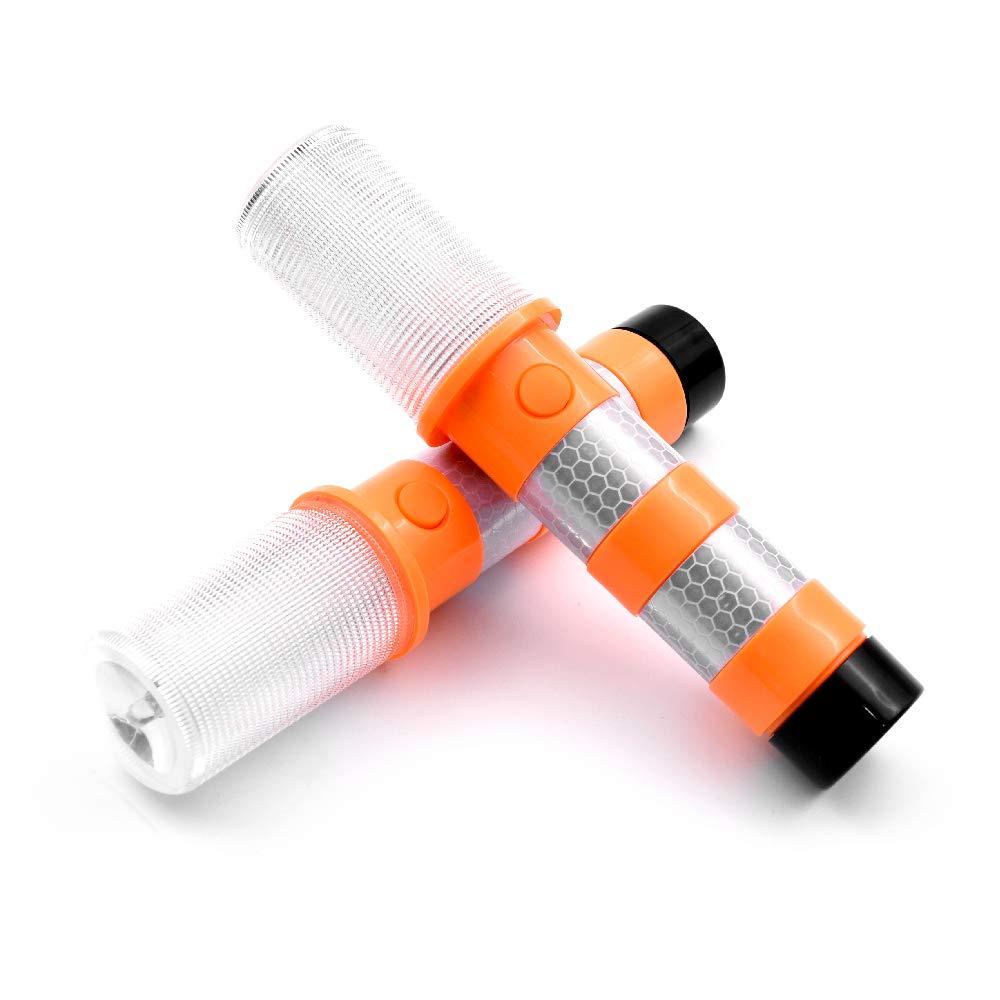 Acelane Pannenhilfe Stroboskopleuchte f/ür die Stra/ßenverkehrssicherheit LED-Blinklicht Warnblinkanlage Autobahnkennleuchte Warnblinkanlage Kit Magnetfu/ß Schutzh/ülle Abnehmbarer St/änder