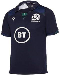 Macron 2019-2020 Scotland Home Replica Rugby Football Soccer T-Shirt Jersey (Kids)