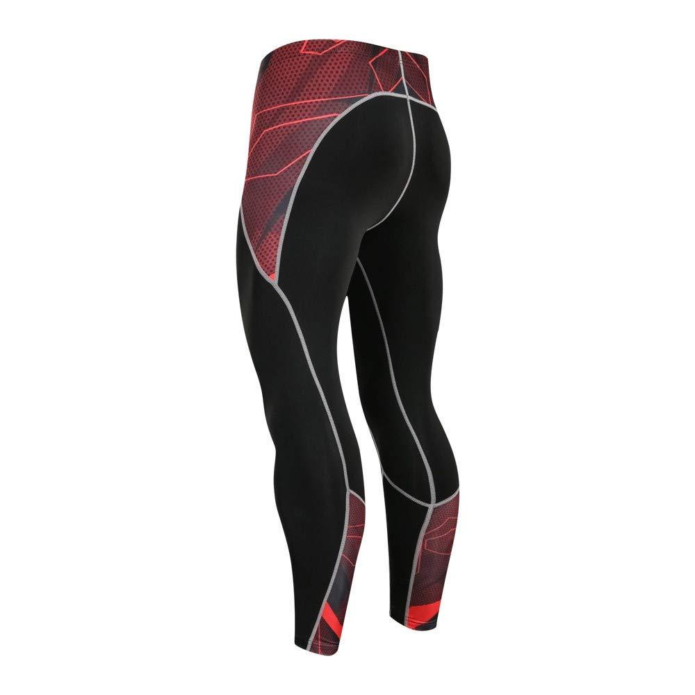 Pantaloni Base Yoga Completo da Abbigliamento Ciclismo Set Sportivo Suit Manica Lunga Jersey Pantaloni Traspirante Rapida ODJOY-FAN-Uomo Asciugatura Rapida Alta qualit/à Sport in Alto