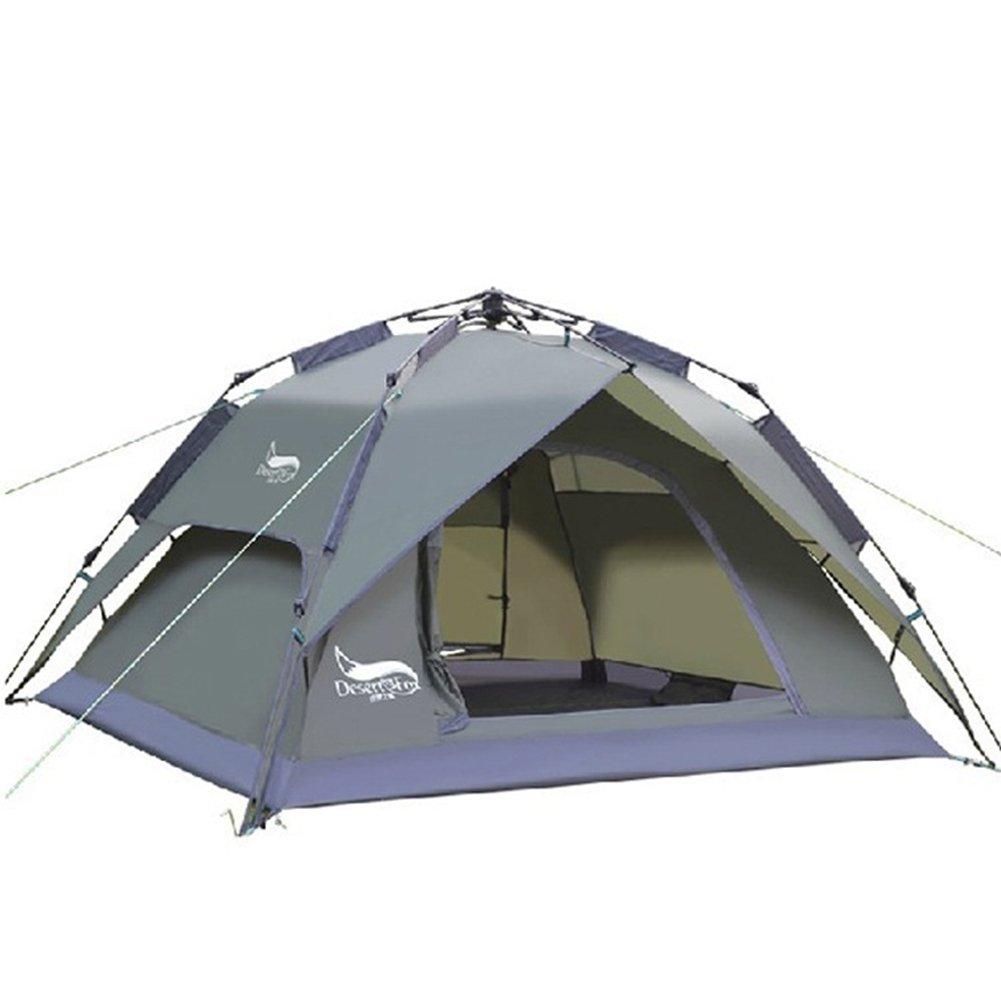 Vesub 3 Person Instant Zelte für Camping, automatische Wasserdicht Zelt, 3 Season two-function Camping Zelt mit Sun Shelter