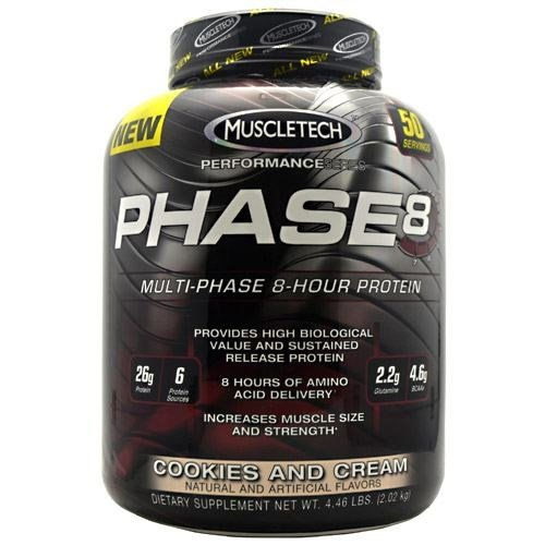 Phase 8, Cookies and Cream by MuscleTech