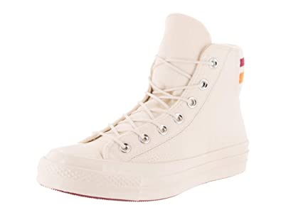 37b7f63d171 Image Unavailable. Image not available for. Color  Converse Unisex Chuck  Taylor All Star 70 Hi Egret Rhubarb Orange Basketball Shoe 6.5
