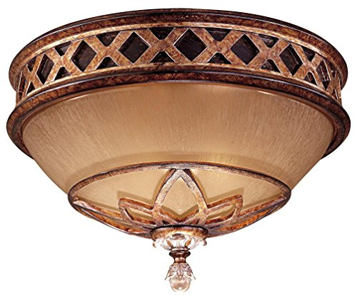 Minka Aston Court Collection (Minka Lavery 1755-206 2 Light Flush Mount, Aston Court Bronze Finish)