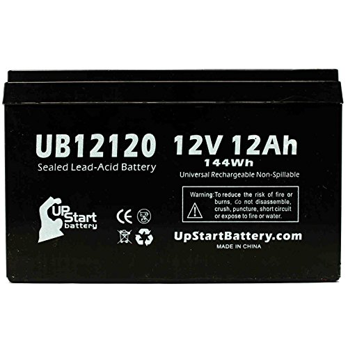 UB12120 Universal Sealed Lead Acid Battery (12V, 12Ah, F1 Terminal, AGM, SLA) Replacement - Compatible With APC SMART-UPS 1000, Razor MX500 Dirt Rocket, MX650 Dirt Rocket, APC BACK-UPS 650, RBC6, RBC4 (Backups 1000 Ups Smart)