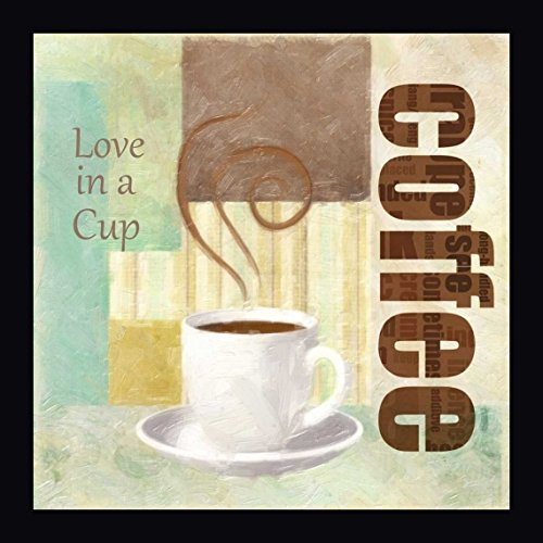 "LOVE IN A CUP by Taylor Greene - 14""x14"" Framed Wrapped Giclee Canvas Art Print - Ready to Hang"