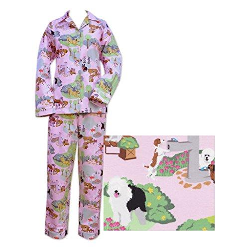 Le Chat de pyjama rose chiens Day Out Pantalon de pyjama en flanelle