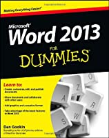 Word 2013 For Dummies Front Cover