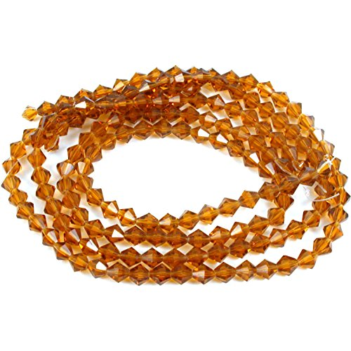- Topaz Faceted Bicone FP Chinese Crystal Beads 6mm 4 St