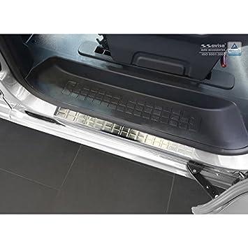 Autostyle 2/16302 - Protector para umbral de Puerta Rectangular, Color Plateado: Amazon.es: Coche y moto
