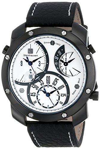 Steinhausen Men's MW1306LLSLUL Triple Crown Analog Display Quartz Black Watch
