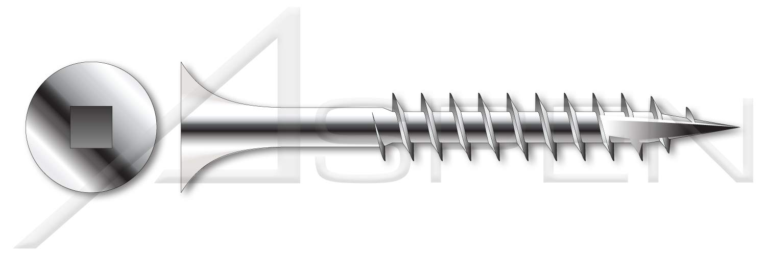 #8 X 2-1//4 Coarse Thread AISI 304 Stainless Steel 125 pcs 18-8 Bugle Square Drive Type 17 Point Deck Screws