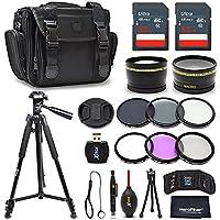 Premium 52mm Accessories Bundle Kit for Nikon D7500 D5600 D3400 D750 D3300 D3200 D5500 D5300 D5200 D5100 D5000 D7200 D7100 D7000 D610 D600 Includes 64GB Memory, Camera Case, 52mm Lenses + More