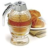 New Norpro Honey Syrup Dispenser, Glass Honey Container by Brand new