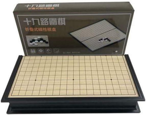 Go Game Set - Tablero de ajedrez Weiqi plegable Juegos educativos magnéticos Go Game Travel Set para niños Juego de mesa chino para personas mayores: Amazon.es: Hogar