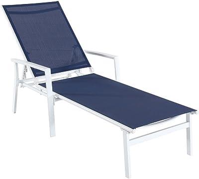 Amazon Com Giantex Set Of 4 Folding Sling Chairs Patio