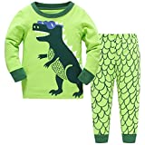 Hugbug Boys Pajamas with Dinosaur Print for Toddler and Kid Boys 3T