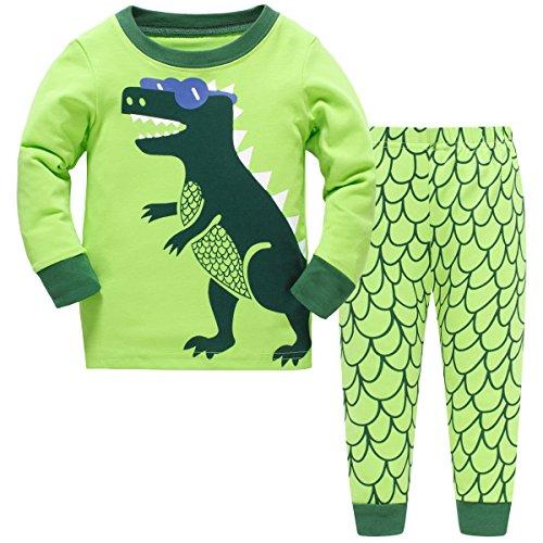 Dinosaur Sleepwear (Hugbug Boys Pajamas with Dinosaur Print for Toddler and Kid Boys 4T)