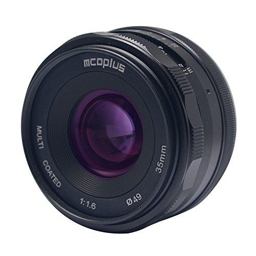Mcoplus 35mm F/1.6 Manual Focus Lens APS-C Fit Fujifilm X Mount Camera X-T3 X-H1 X-Pro2 X-E3 X-T1 X-T2 X-T10 X-T20 X-A2 X-E2 X-E2s X-E1 X30 X70 X-M1 X-A1 XPro1 (Best Camera Comparison Site)