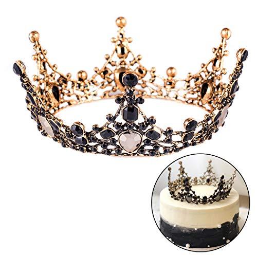 - Fansport Wedding Cake Topper Fashion Creative Vintage Rhinestone Crown Cake Decoration