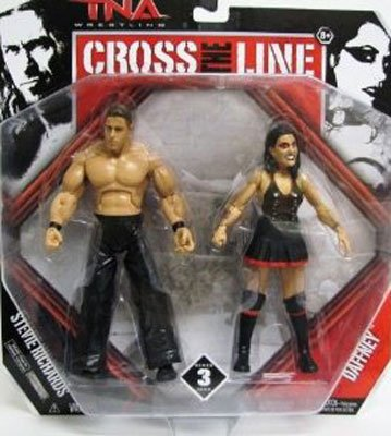 Tna Cross - TNA Wrestling Cross the Line Series 3 Action Figure 2Pack Dr. Stevie Daffney